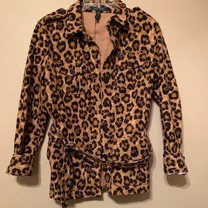 Ralph Lauren Safari Style Cheetah Print Coat